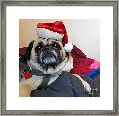 Santas Helper Framed Print