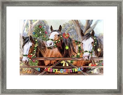 Santa's Helpers Framed Print
