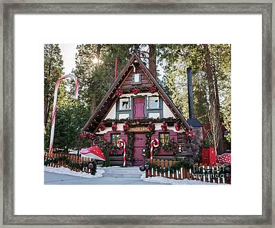 Santa's House Framed Print by Eddie Yerkish