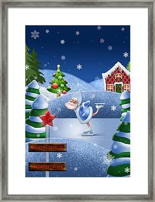 Santa's House - North Pole  Framed Print by Maggie Terlecki