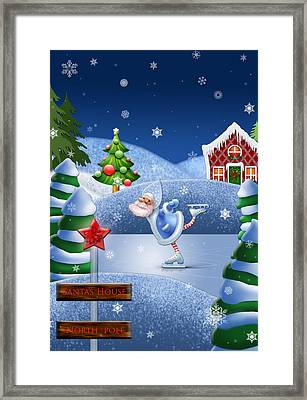 Santa's House - North Pole  Framed Print
