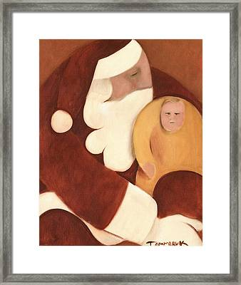 Santa's Lap Art Print Framed Print by Tommervik