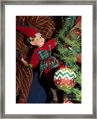 Santas Little Helper In Petaluma California Usa Dsc3767 Framed Print by Wingsdomain Art and Photography