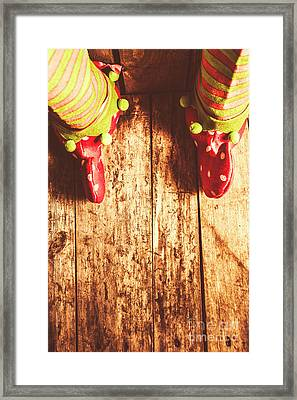 Santas Little Helper Framed Print by Jorgo Photography - Wall Art Gallery