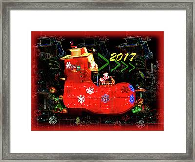 Santa's Magic Stocking Framed Print
