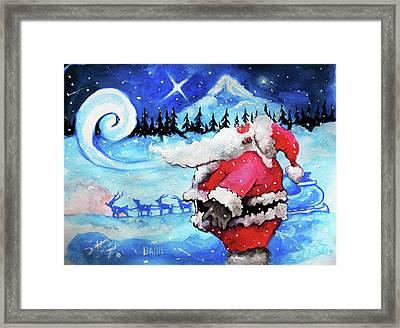 Santa's Moment Framed Print