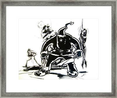Santa's Slay Framed Print by Big Mike Roate