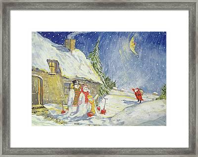 Santa's Visit Framed Print by David Cooke