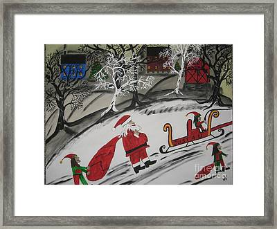Santa's Work Is Done  Framed Print
