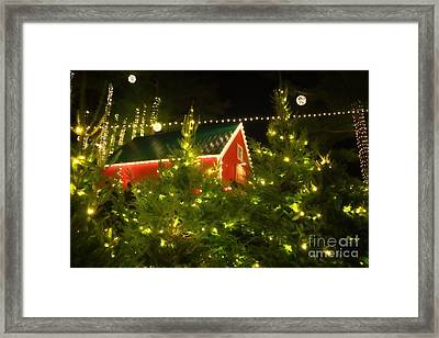 Santa's Workshop Framed Print by Elizabeth Dow