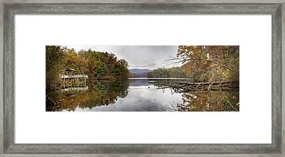 Santeetlah Dock Framed Print by Debra and Dave Vanderlaan