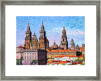 Santiago De Compostela, Cathedral, Spain Framed Print by Jane Small