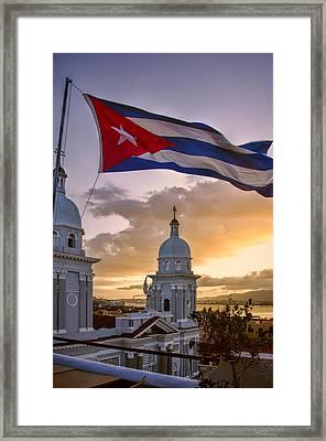 Santiago De Cuba Dusk Framed Print