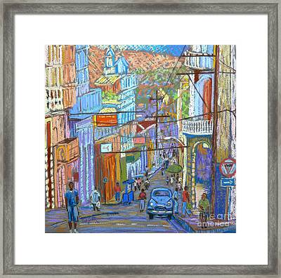 Santiago De Cuba Framed Print by Rae  Smith PSC