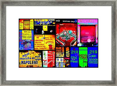 Santiago Funky Walls  Framed Print by Funkpix Photo Hunter