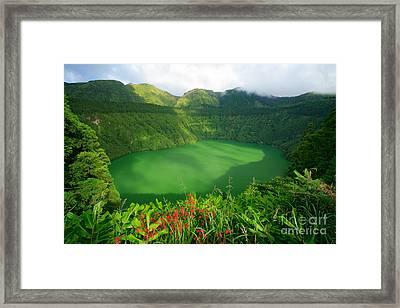 Santiago Lake Framed Print by Gaspar Avila