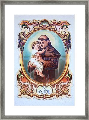 Santo Antonio De Lisboa Framed Print by Gaspar Avila