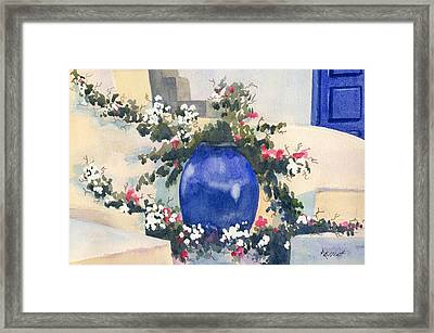 Santorini Blues Framed Print