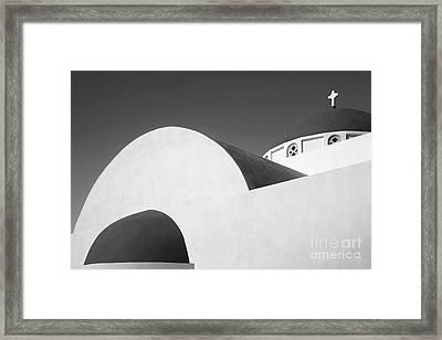 Santorini Chapel 1 Framed Print by Rod McLean