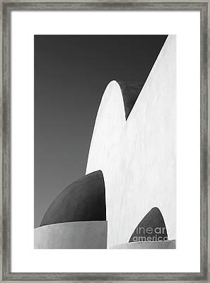 Santorini Chapel 2 Framed Print by Rod McLean