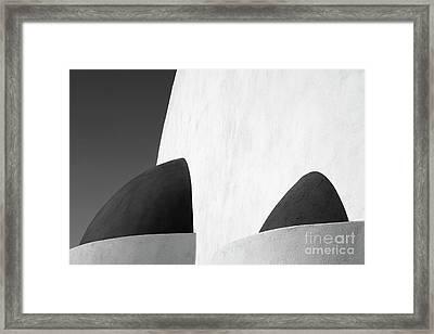 Santorini Chapel 3 Framed Print by Rod McLean