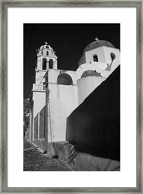 Santorini Church Framed Print