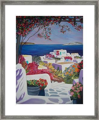 Santorini Framed Print by Dorota Nowak