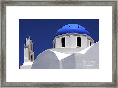 Framed Print featuring the photograph Santorini Greece Architectual Line 2 by Bob Christopher
