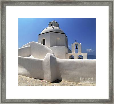 Framed Print featuring the photograph Santorini Greece Architectual Line 4 by Bob Christopher