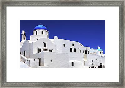 Framed Print featuring the photograph Santorini Greece Architectual Line 6 by Bob Christopher