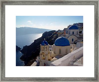 Santorini Greece Framed Print by Nancy Bradley