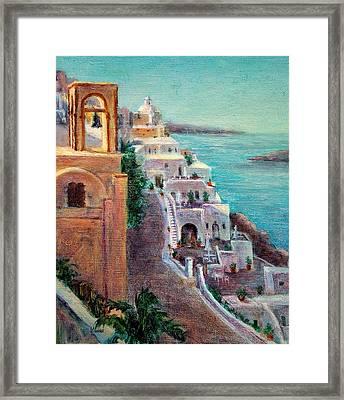 Hotels Of Santorini Framed Print