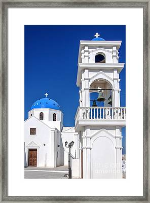 Santorini Imerovigli Church Framed Print