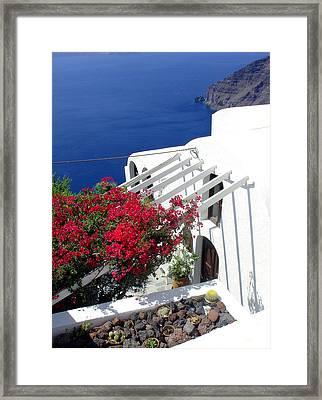 Santorini Villa  Framed Print