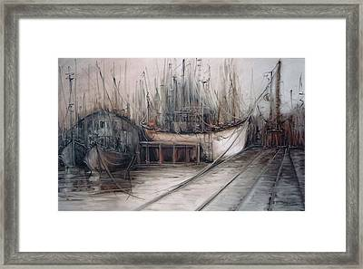 Santos Harbour Framed Print by Fatima Stamato