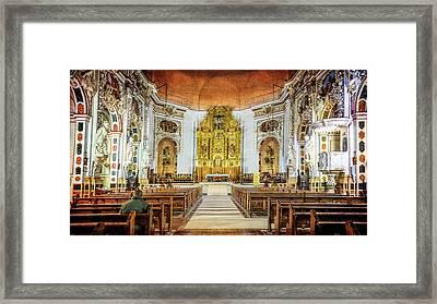 Santos Juanes Church Valencia Spain Framed Print by Joan Carroll