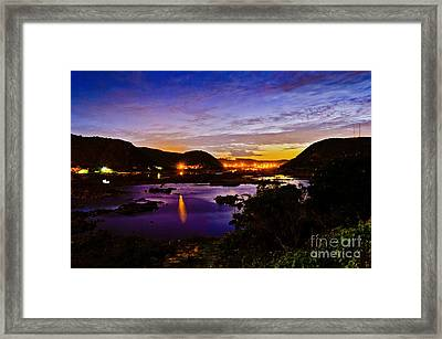 Sao Francisco River At Dusk Framed Print by Carlos Alkmin