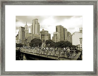 Sao Paulo, Brazil - Downtown - Santa Ifigenia Overpass Framed Print by Carlos Alkmin