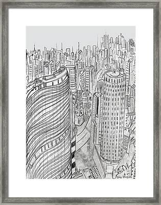 Sao Paulo Framed Print by Carol Morris