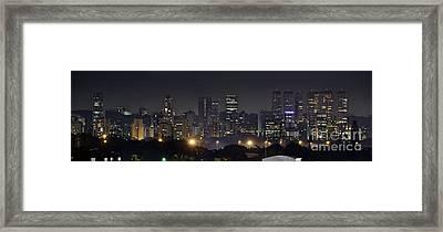 Sao Paulo Skyline - Brooklin From Moema Framed Print by Carlos Alkmin