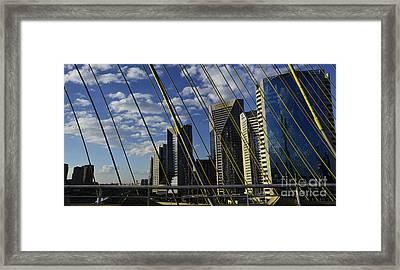 Sao Paulo - Stayed Bridge Ponte Estaiada Framed Print