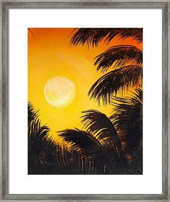 Sao Paulo Sunset Framed Print by Erica Seckinger