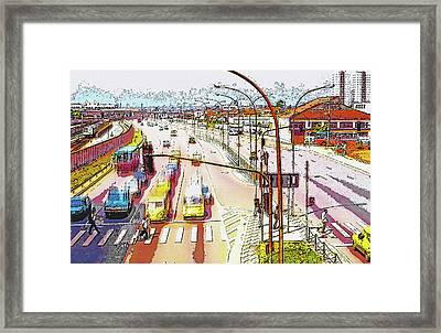 Sao Paulo Traffic - 1982 Framed Print by Steve Ohlsen