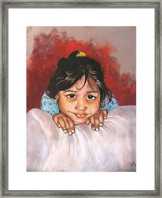 Saoni Framed Print by Yxia Olivares