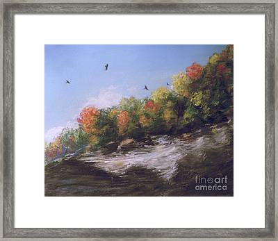 Soaring Over The North Rim, Autumn Framed Print