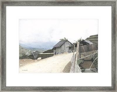 Sapa North Vietnam Framed Print by Wilfrid Barbier