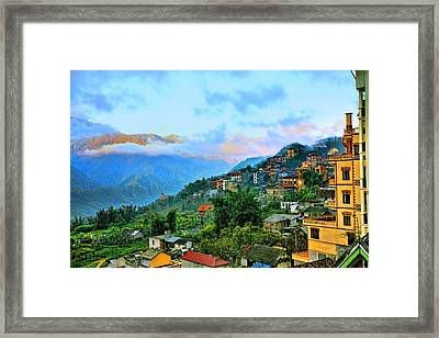 Sapa Village Framed Print by Chuck Kuhn
