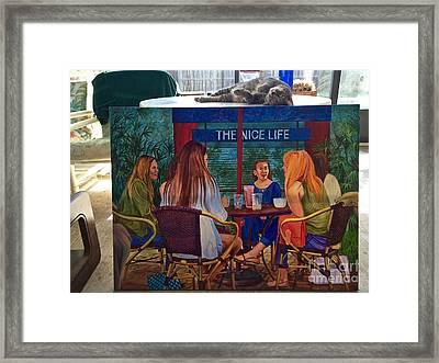 Saphira And The Nice Life Framed Print
