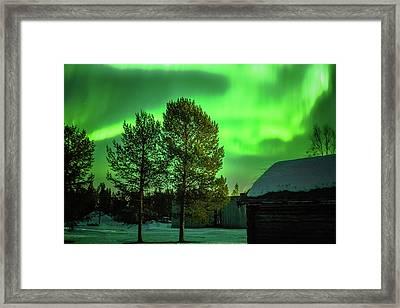 Sapmi Outdoor Museum Under The Northern Lights Karasjok Norway Framed Print