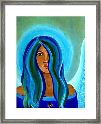 Sapphire Angel Framed Print by The Art With A Heart By Charlotte Phillips